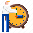 clock, start, stop, time, watch icon