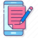 app, mobile, note, taking icon