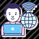 business, online, remote, work