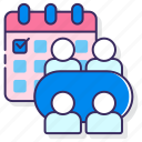 business, management, meeting, scheduled icon