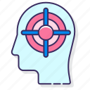 focused, head, mind, thinking