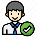 verify, professional, office, worker, businessman