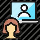 meeting, team, laptop, woman