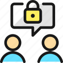 lock, message, team, meeting