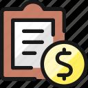 task, list, cash