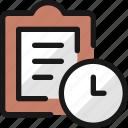 task, list, clock