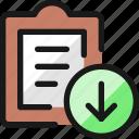 list, task, download