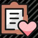 task, list, heart