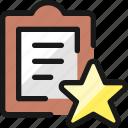 task, list, star