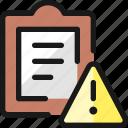 task, list, warning