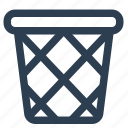basket, waste icon