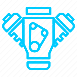 automobile, car, engine, machine, service icon