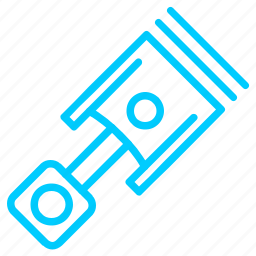 accessories, parts, piston, vehicle icon