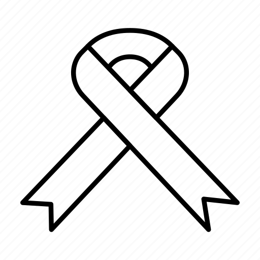 Aids, health, medical, ribbon icon