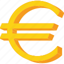 currency, euro, europe, forex, gold, union icon