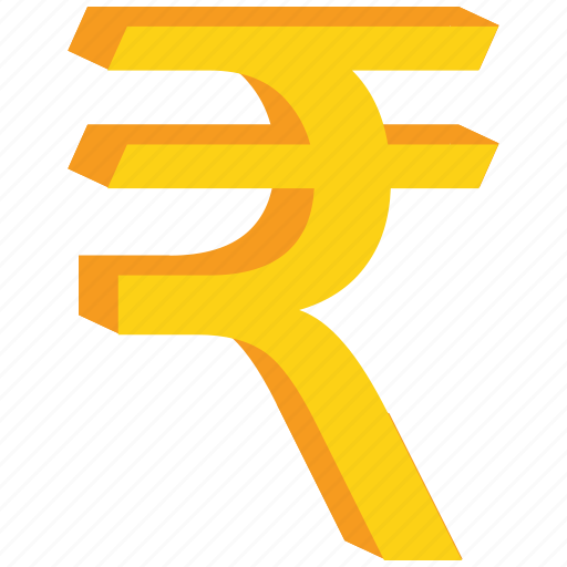 currency, gold, indian, rupee, sign icon