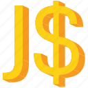 currency, dollar, gold, jamaica, jamaican, sign icon