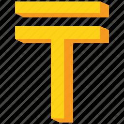 currency, gold, kazakhstan, kazakhstani, tenge icon