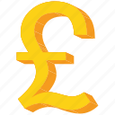 currency, forex, gbp, gold, pound, sign icon