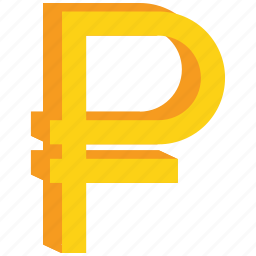currency, gold, ruble, sign icon