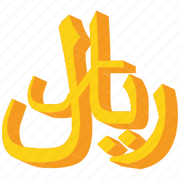 currency, gold, rial, yemen, yemeni icon
