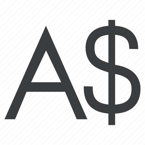 australian, currency, dollar, sign icon