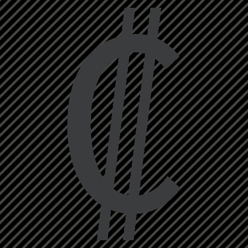 colon, costa, currency, rican icon