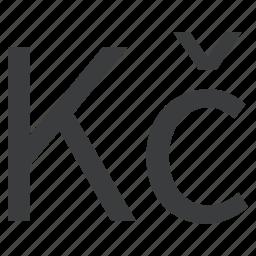 currency, czech, koruna icon