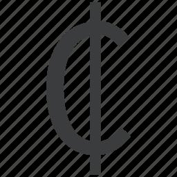 cedi, currency, ghana icon