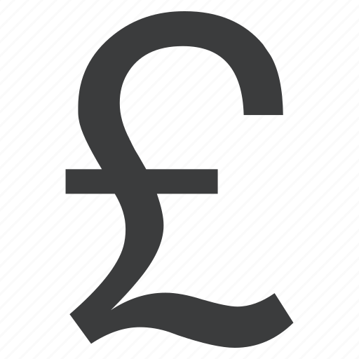 currency, forex, pound, sign icon