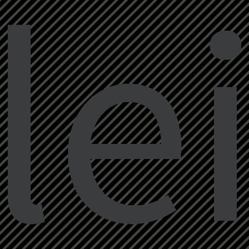 currency, leu, romania, romanian icon