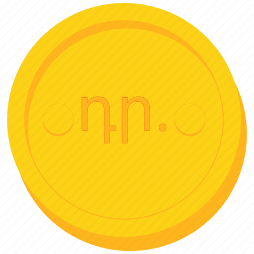 coin, currency, dram, gold, karabakh, nagorno icon