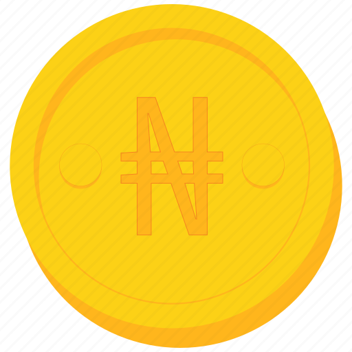 coin, currency, gold, naira, nigeria, nigerian icon