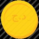 algeria, algerian, coin, currency, dinar, gold icon