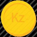 angola, angolan, coin, currency, gold, kwanza icon
