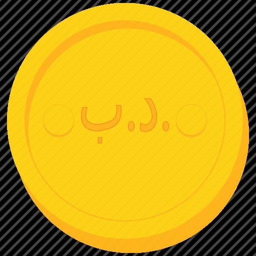 bahrain, bahraini, coin, currency, dinar, gold icon