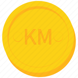 bosnia, coin, convertible, currency, gold, herzegovina, mark icon