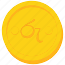 ceylon, coin, currency, gold, lankan, rupee, sri icon