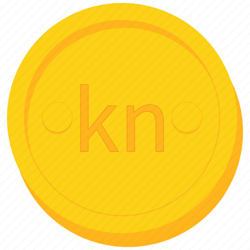 coin, croatian, currency, gold, kuna icon