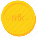 coin, currency, eritrea, eritrean, gold, nakfa icon