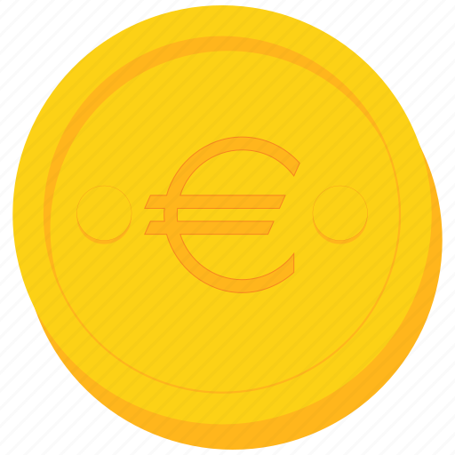 coin, currency, euro, europe, gold, sign icon