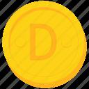 coin, currency, dalasi, gambia, gambian, gold icon