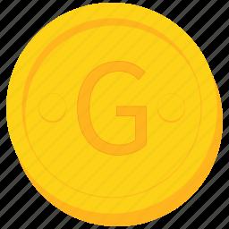 coin, currency, gold, gourde, haiti, haitian icon