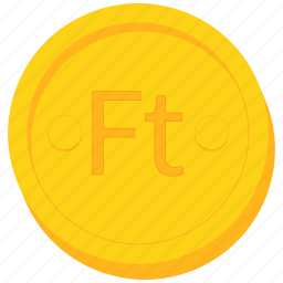 coin, currency, forint, gold, hungarian, hungary icon