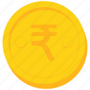 coin, currency, gold, india, indian, rupee icon