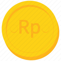 coin, currency, gold, indonesia, indonesian, rupiah icon