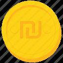 coin, currency, gold, israel, israeli, shekel icon