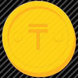 coin, currency, gold, kazakhstan, kazakhstani, tenge icon