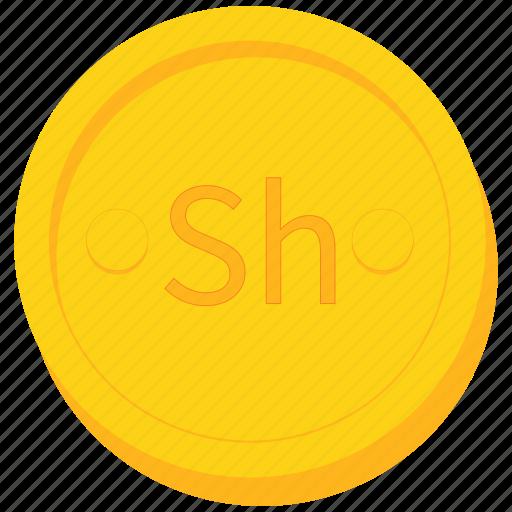 coin, currency, gold, kenyan, shilling, somalia, ugandan icon