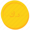 coin, currency, dinar, gold, kuwait, kuwaiti icon